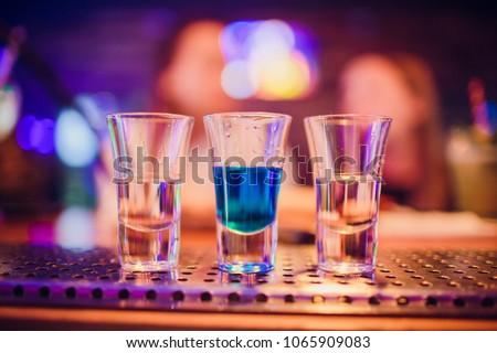 Multicolored shots on bar #1065909083