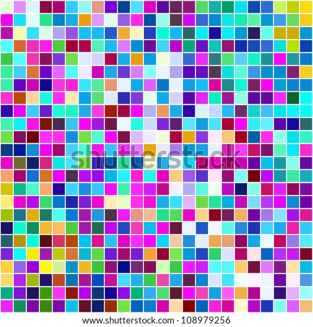 Multicolored small squares background. - stock photo