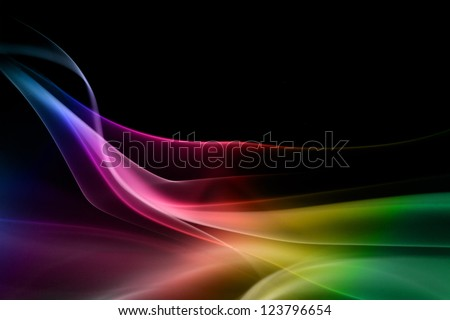 Stock Photo Multicolored smoke in black background