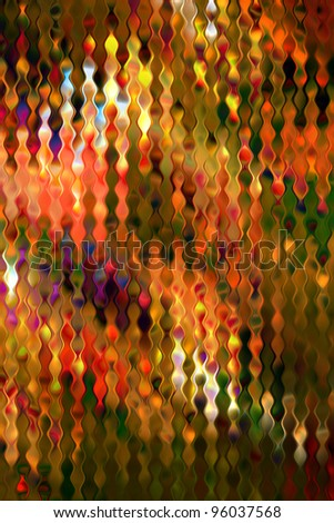 Multicolored stained distorted glass pattern art background