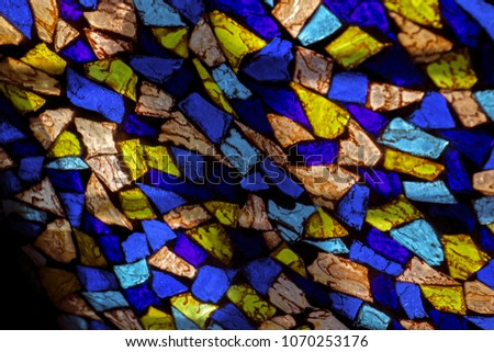 multicolored stained glass  #1070253176