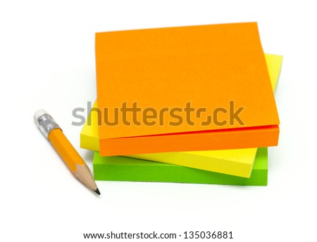 multicolored stickers isolated on white background