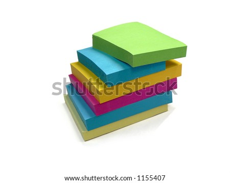 Multicolored sticky notes