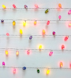 Multicolored string of Christmas lights
