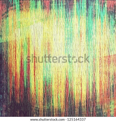 multicolored strips on wrapping paper ; vintage background