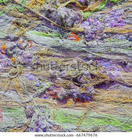 Multicolored textile background. #667479676