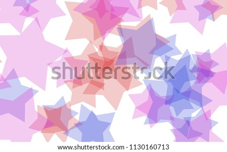 Multicolored translucent stars on a white background. Green tones. 3D illustration