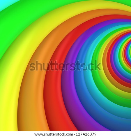 Multicolored twisted background, 3d computer graphic