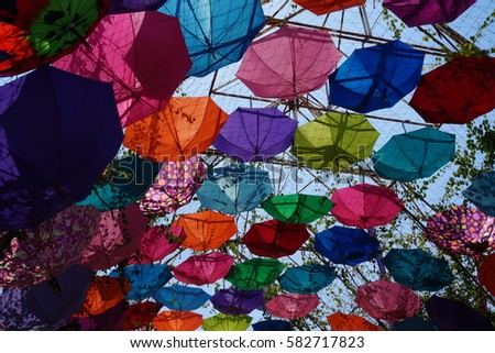 Multicolored umbrella #582717823