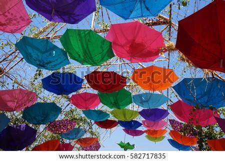 Multicolored umbrella #582717835