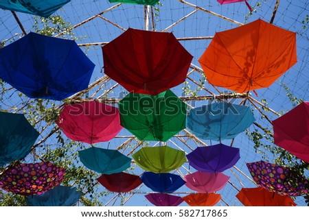 Multicolored umbrella #582717865