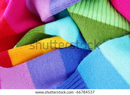 multicolored woolen soft texture