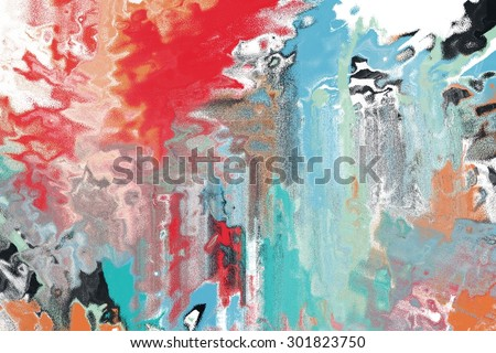 multicolour abstract painting canvas/abstract painting in red and green/multicolour abstract painting canvas
