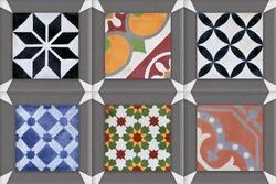 multicolour tiles design pattern, multicolour tiles texture, digital wall tiles design,