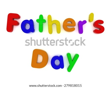 multicoloured fathers day fridge magnet letters