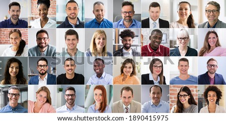 Multicultural Faces Photo Collage. Portrait And Avatar Headshots