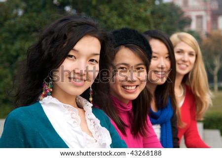 Multicultural girls in College