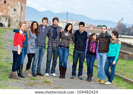 Multicultural Group of People, Italy