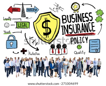 Multiethnic Crowd People Safety Risk Business Insurance Concept