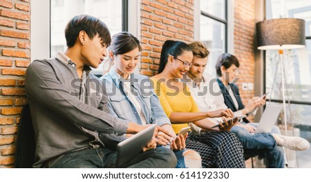 multiethnic diverse group of...