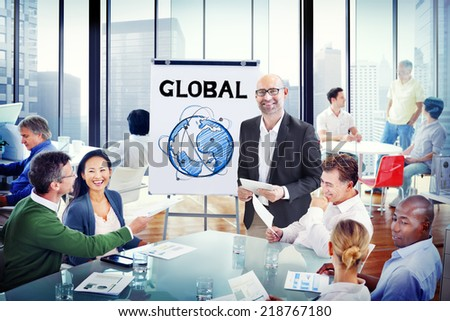 Multiethnic Group of People Discussion with Global Concept