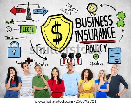 Multiethnic People Planning Safety Risk Business Insurance Concept