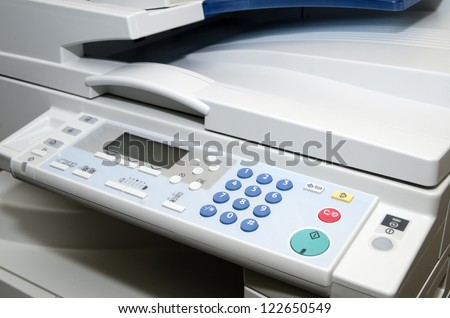 Multifunction printer close-up