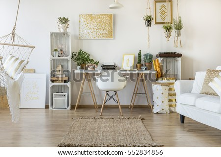 Multifunctional loft apartment with home office area #552834856