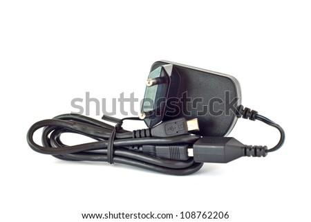 Multifunctional USB charger for mobile phone with European plug