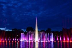 Multimedia fountain show in Wroclaw