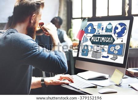 Multimedia Media Video Application Entertainment Concept #379152196