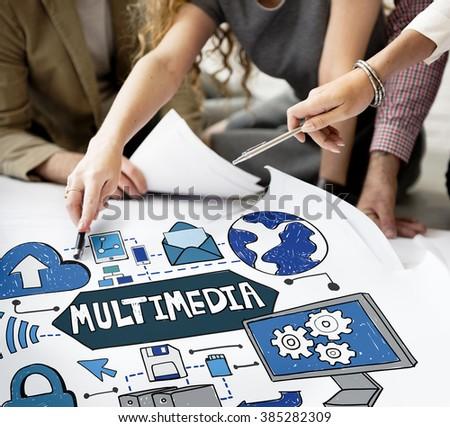 Multimedia Media Video Application Entertainment Concept #385282309