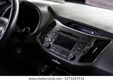 Multimedia system of modern car #1073281916