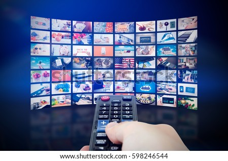 Multimedia video wall television broadcast. multimedia wall television video broadcast advertising background broadcasting concept #598246544