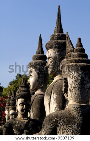 Multiple Buddhas - Buddha Park, Vientiane. Laos