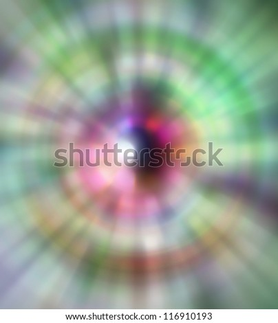 Multiple lights blur background green blue circular