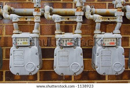multiple natural gas meters