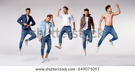 Shutterstock Multiple portrait of a handsome and muscular athlete