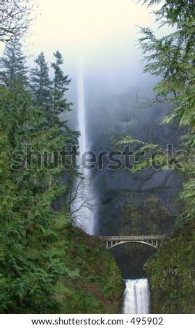Multnomah Falls in the Mist