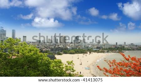 Mumbai city of India beach view