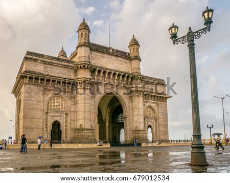 MUMBAI, INDIA - July 09, 2017 - Unidentified people walking  around the Gateway of India #679012534