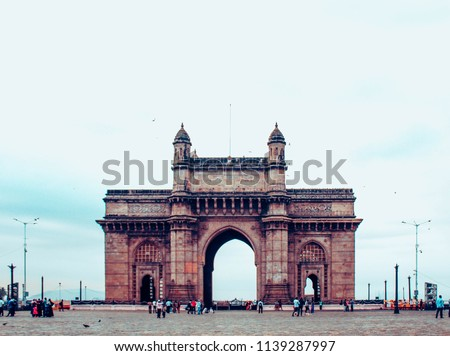 Mumbai,Maharashtra, India,May,16,2018: Gate Way Of India, monument landmark ,Mumbai, Maharashtra, India. #1139287997