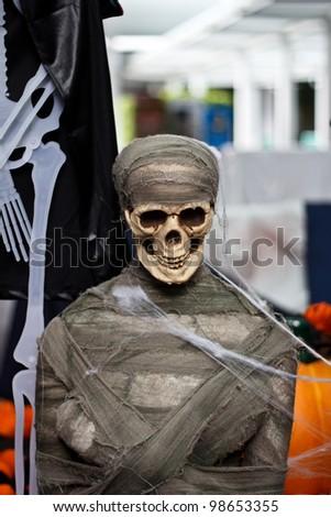 Mummy in halloween day