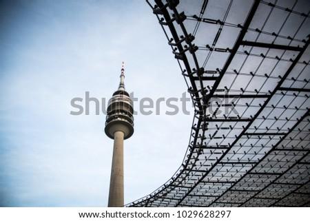 Munich/ Germany - December 24 2012 : Telecommunication tower #1029628297
