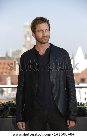 Munich Germany June 07 Actor Gerard Butler Poses