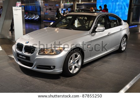 MUNICH, GERMANY - OCTOBER 31: BMW Motor Show on October 31, 2011 in BMW Welt in Munich, new BMW 3 Series