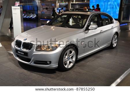MUNICH, GERMANY - OCTOBER 31: BMW Motor Show on October 31, 2011 in BMW Welt in Munich, new BMW 3 Series