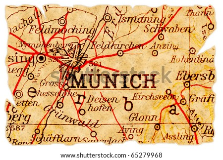 munich  germany on an old torn...