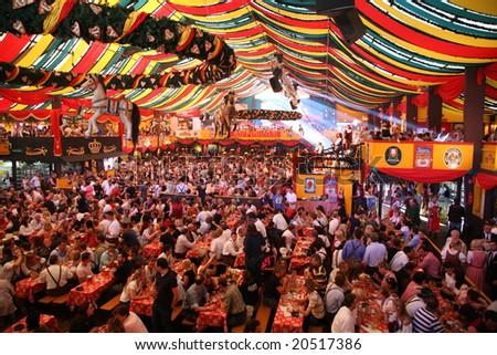 MUNICH - OCTOBER 16: Oktoberfest October 16 2007 in Munich, Germany