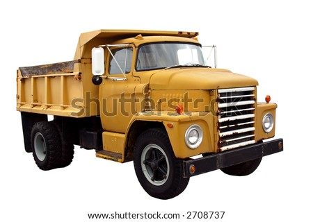 Municipal Dump Truck isolated on a white background